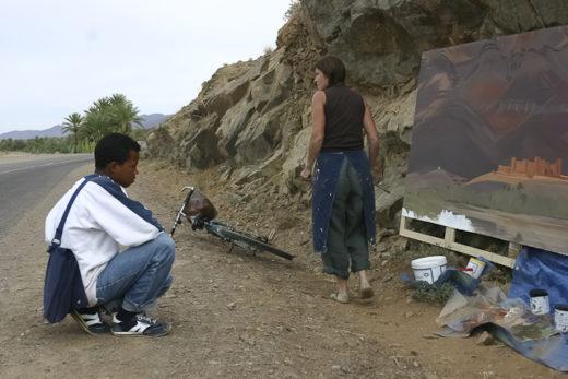 Peinture en direct du Maroc par Michelle Auboiron