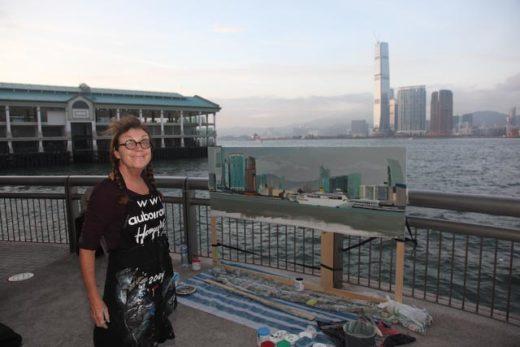 Michelle AUBOIRON - Peinture live in Hong Kong