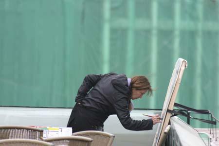 38 peintures en 2 mois à Shanghai - Une performance de Michelle Auboiron, artiste peintre fraçaise
