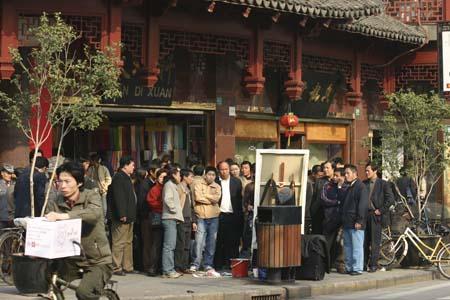 Peindre la ville - Michelle Auboiron à Fang Bang Lu - Shanghai - Chine