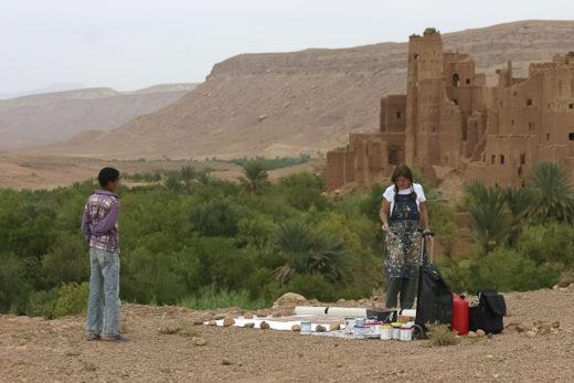21 peintures en 1 mois en direct du Sud marocain par Michelle Auboiron