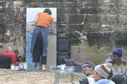 Michelle Auboiron - Peinture en direct d'Essaouira