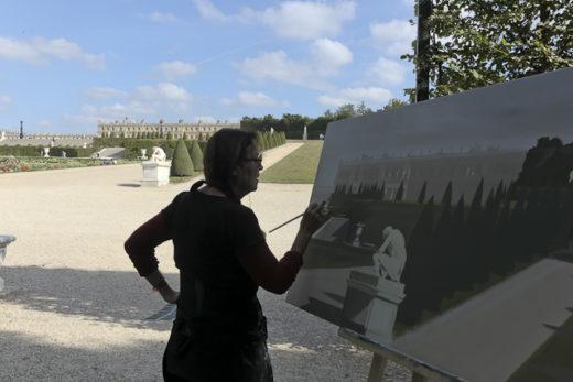 Michelle Auboiron - Peinture in situ dans le Parc du Château de Versailles