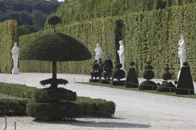 Taupières dans le parc du Château de Versailles
