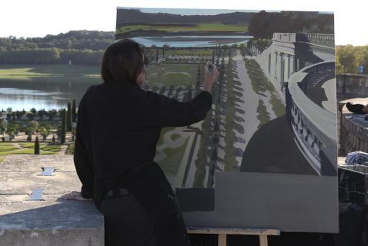 Michelle Auboiron - Peinture live à Versailles