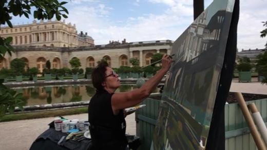 """Vidéo """"Ma Vie de Château"""" - Peintures en direct du Parc du Château de Versailles par Michelle Auboiron - Réalisation de Charles GUY"""