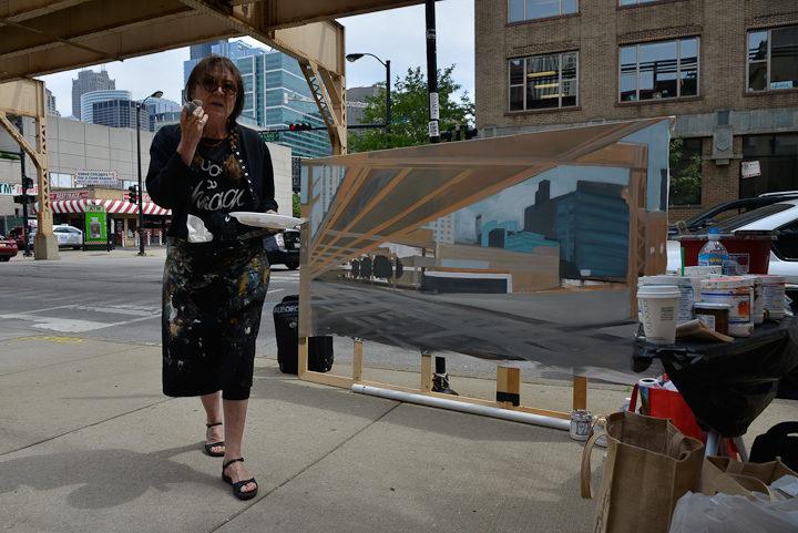 01-Lake-Desplaines-Fast-Track-Diner-Chicago-peinture-painting-Michelle-Auboiron-2