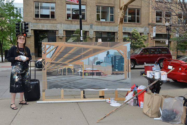 01-Lake-Desplaines-Fast-Track-Diner-Chicago-peinture-painting-Michelle-Auboiron-4