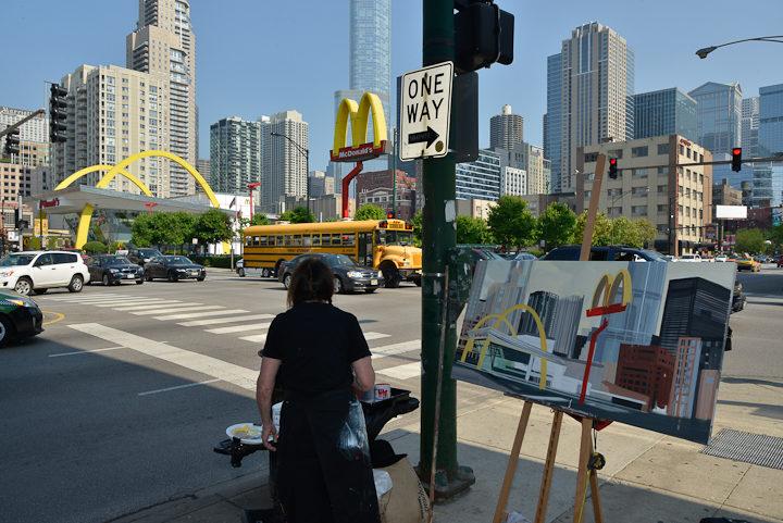 03-Mac-Donald-s-Ontario-et-Clark-Chicago-painting-peinture-Michelle-Auboiron-03
