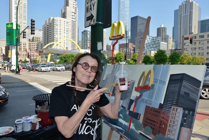 04-Mac-Donald-s-Ontario-et-Clark-Chicago-painting-peinture-Michelle-Auboiron-04