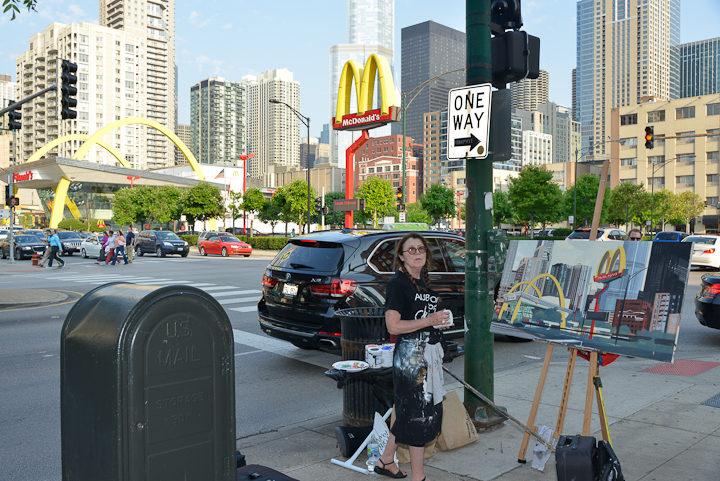 05-Mac-Donald-s-Ontario-et-Clark-Chicago-painting-peinture-Michelle-Auboiron-05
