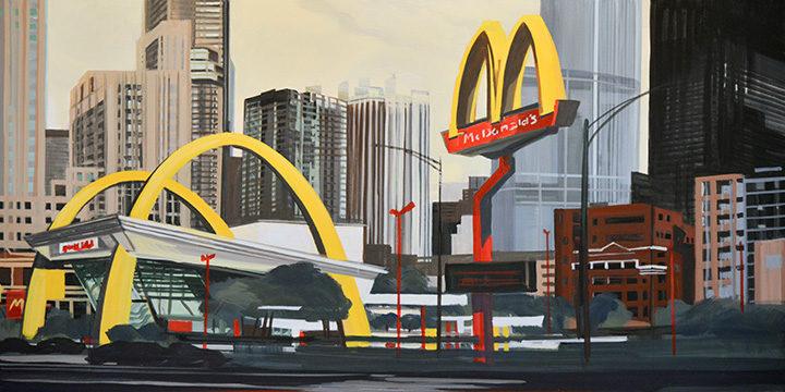 05-Mac-Donald-s-Ontario-et-Clark-Chicago-painting-peinture-Michelle-Auboiron-06