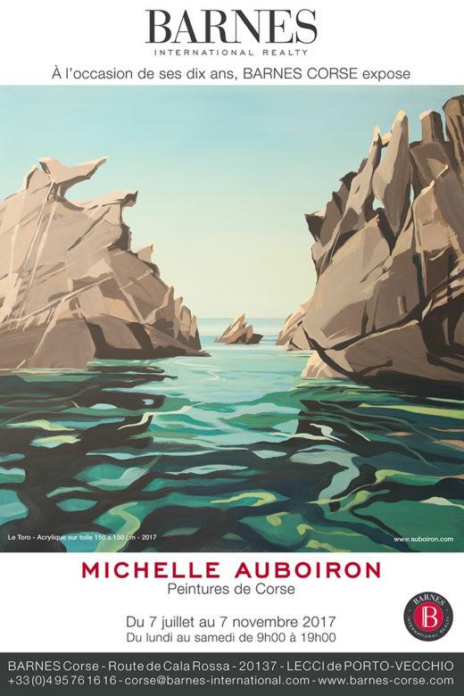 Exposition des peintures de Corse de Michelle AUBOIRON à l'agence Barnes Corse de Porto Vecchio du 7 juillet au 7 novembre 2017
